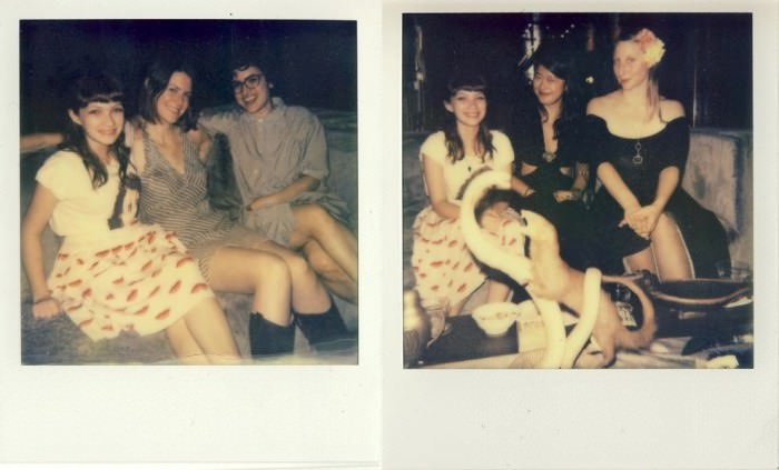Rookie staff members, by a Rookie staff member! Petra took these Polaroids when we celebrated our launch in September at Cindy's place. Tavi, Emily, Anaheed, Jenny, and Emma. The mongoose is not part of our staff.