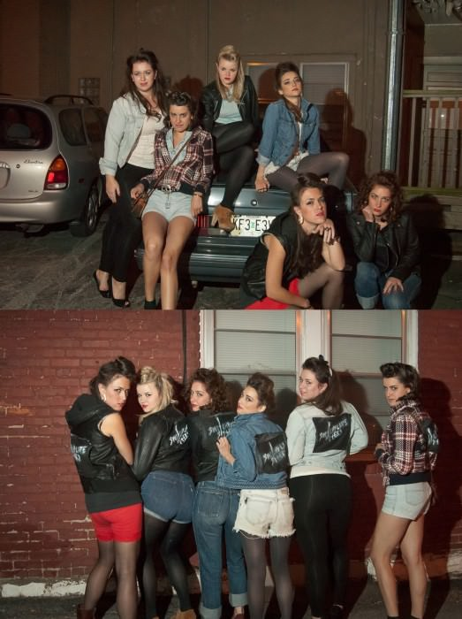 "My friends and I were a girl gang for Halloween. We were inspired by movies like Cry-Baby, Grease, and Switchblade Sisters, as well as Drew Barrymore's music video for ""Our Deal"" by Best Coast ("