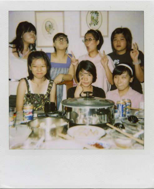 Hotpot party. Candy, Lisa, Lorraine, Faith, Lershan, Saphira, Kayi. —Kayi
