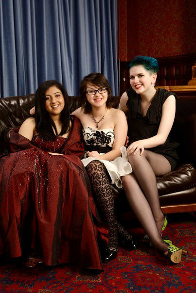 This is my girl gang, which I am still very much in, though we have drifted slightly as we all go to different schools now. We've been together for six years, though Emily and I have known each other for almost 12. It goes Amandeep, Emily, me. This was at our year-11 prom—I guess that's the equivalent of sophomores in high school?—and I think you can agree, we're a very glamorous bunch. This was the first time I grew my nails long, and the first time Amandeep wore a full face of makeup. Emily's always been well put together, so ignore her. We're the Unholy Trinity, and we've been through everything together. Boyfriends, coming out, sex shops, vibrators, surviving our all-girls private school—we're so close, and total bros. Our goals are all different, and we're all very different people, but when we get together, it's like we've never been apart. I like to think these fierce grrrls will be my friends for life, but even if we're not, I'll always be happy about the time I've spent with them and the secrets we've shared. —Lilith