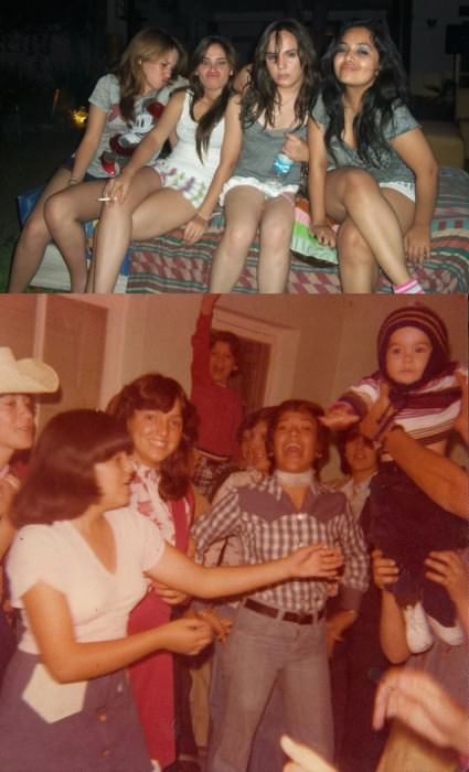 My own girl gang and my mom's girl gang. I'm the one holding a water bottle. —Diana