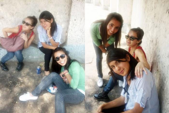 """Soy Marisol de la ciudad de Mexico!!! Mandamos una foto de nuestra bandita """"Chick Habit"""" y soy la chica del tatuaje. Marisol, Georgina, and Mariana. —Marisol"""