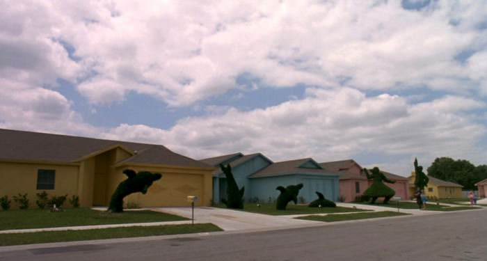 The creepy town in Edward Scissorhands
