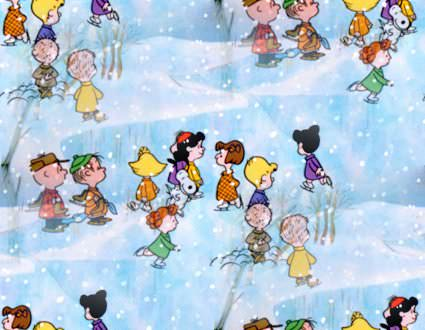 Skating in A Charlie Brown Christmas
