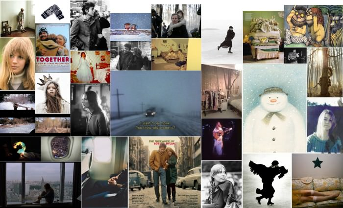 The inspiration moodboard I made when we started working on this month and theme in November. See you Monday in 2012!