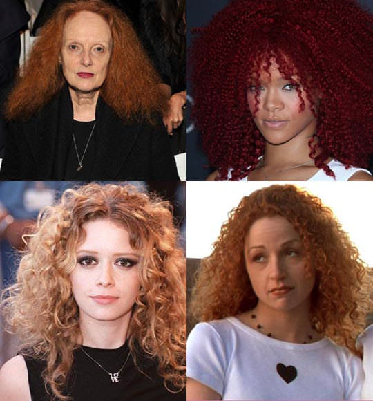 Clockwise from top left: Grace Coddington, Rihanna, Marisa Ribisi, Natasha Lyonne