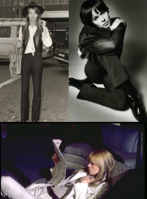 Clockwise from top left: Francoise Hardy; Geraldine Chaplin; Nico