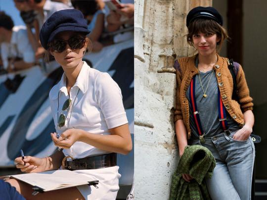 L-R: Nina Rindt via Stilius Vagis; Lou Doillon via Tomboy Style