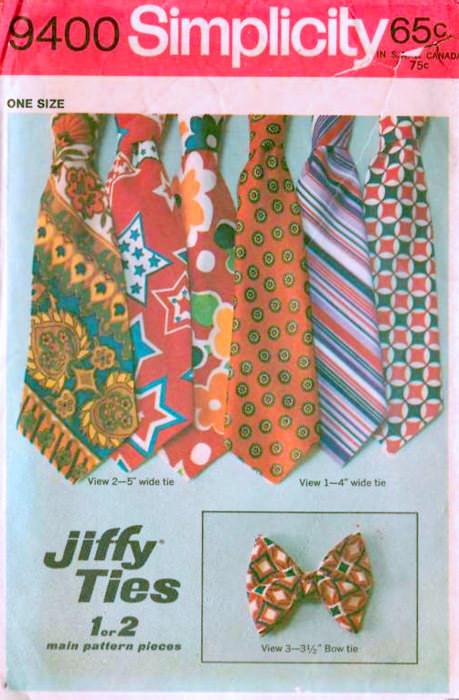 Vintage men's ties packaging.