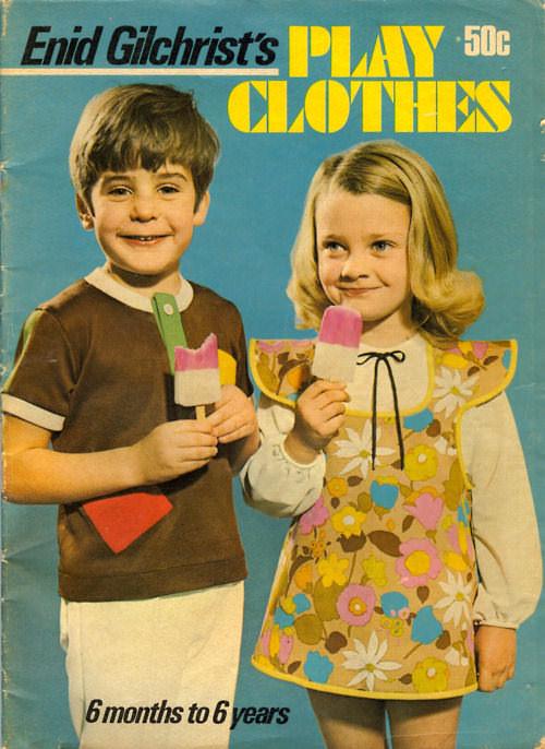 Vintage book of sewing patterns via Baby Bean Vintage Studio.