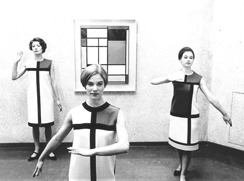 Yves Saint Laurent's Mondrian collection.