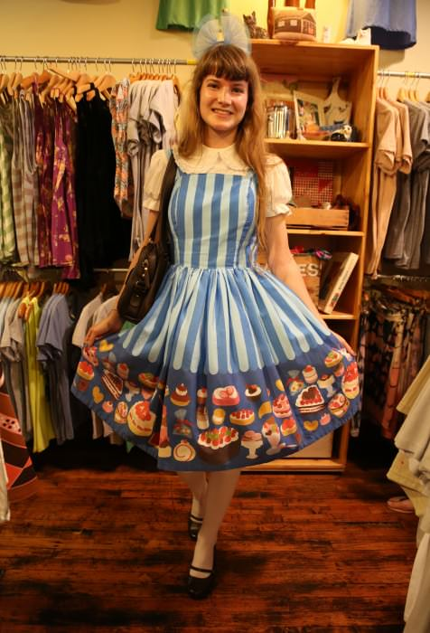 Susie, in Iowa City, designed this dress AND THE FABRIC IT'S MADE FROM herself!