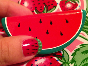 DIY Watermelon Manicure