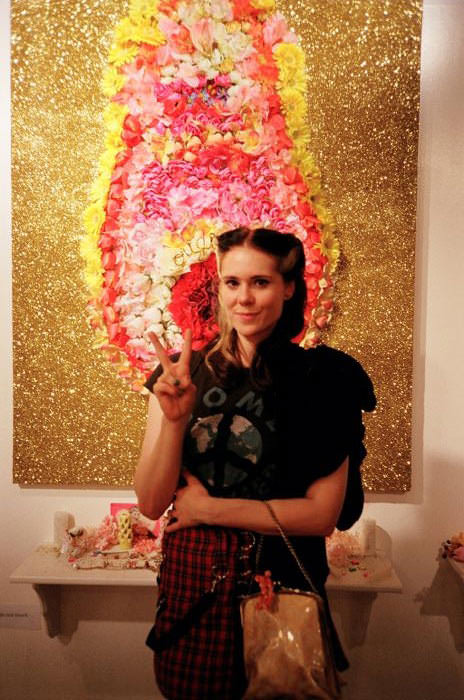 Kate Nash came by a few of our events in L.A., and was a fan of Petra's vagina as well. (I'm NEVER going to stop it with these Petra's vagina puns.)