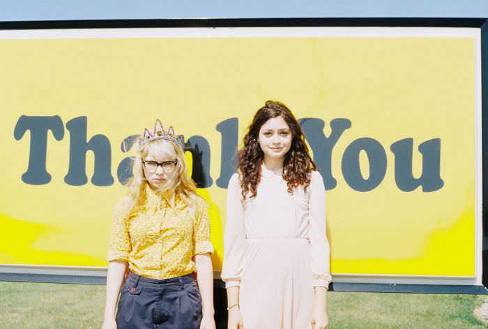 Hazel and me dressed as Suzy and Sam from Moonrise Kingdom on our way to see it in Omaha. We're both in all vintage except for my Meadham Kirchhoff crown. We were all obsessed with this gas station sign.