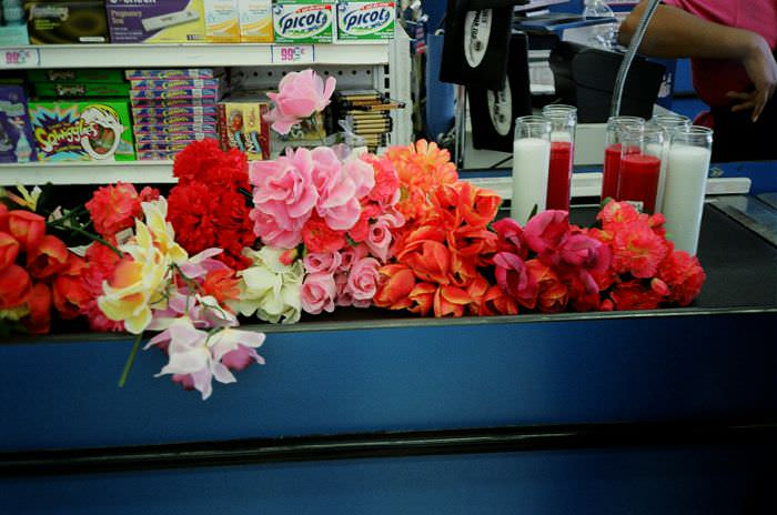 We needed a LOT of fake flowers.