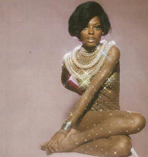 Diana Ross on the cover of her album Feet