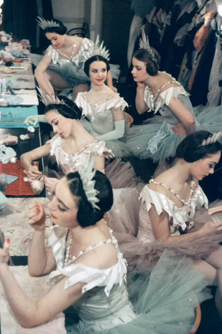 Ballet dancers backstage in the 1940s