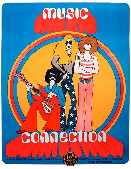 1970s music poster.