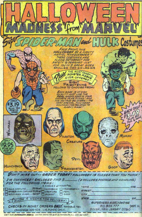 Vintage comic book ad.