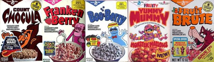 Monster cereals.