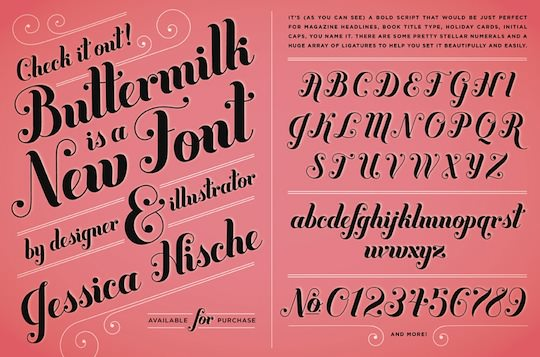 Jessica's entirely new font, Buttermilk.