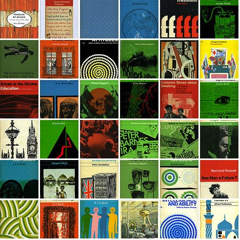 Penguin book covers from the 1960s.