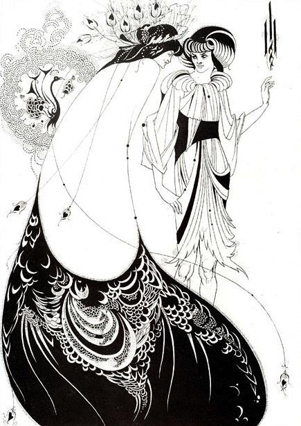 The Peacock Skirt by Aubrey Beardsley, 1894.