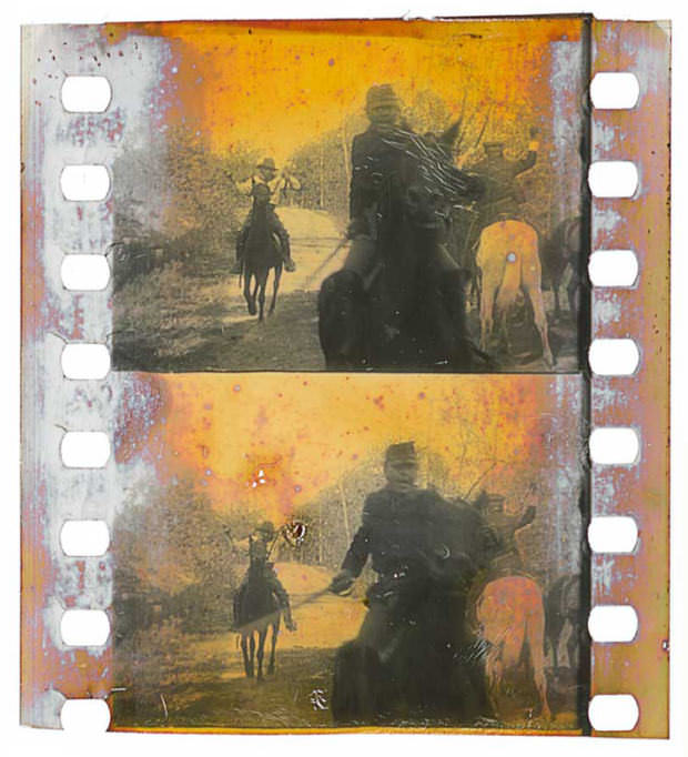 35mm nitrate film frame clipping from the Turconi Collection, via Jim on Light.