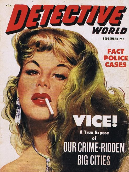 Detective World magazine, September 1952. Image via Drake's Way.