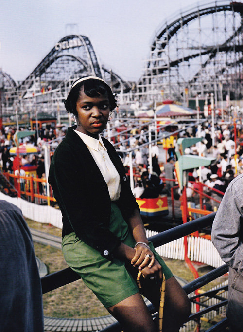 Photo by George Brassaï, 1957, Coney Island, New York. Via RasMarley on Flickr.