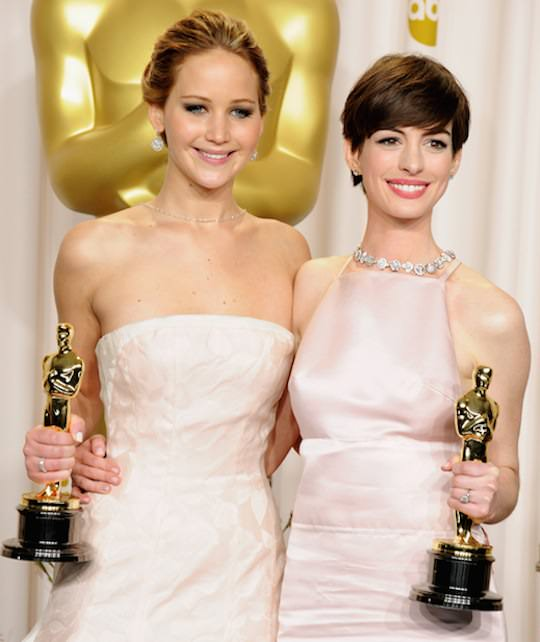 Jennifer Lawrence and Anne Hathaway.