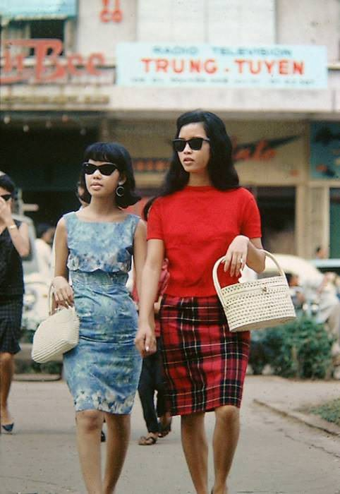 1960s, Saigon. Via The Moggys Mekong Madness. Original source unknown.