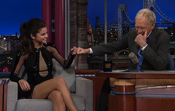 Spring Breakers star Selena Gomez on David Letterman.