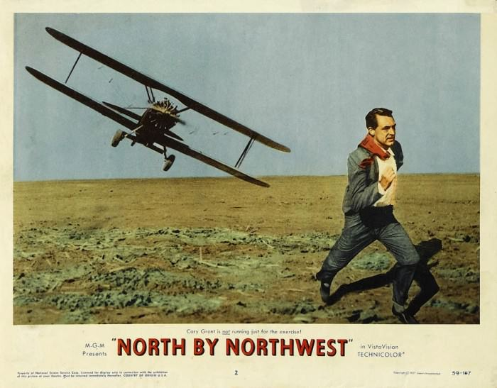 Poster for North by Northwest, 1959.