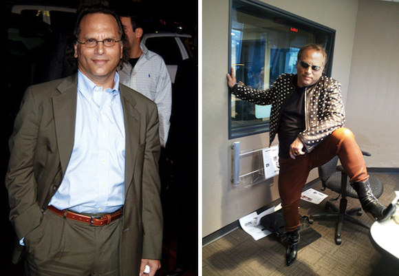 Buzz Bissinger, before (left) and after his shopping addiction.