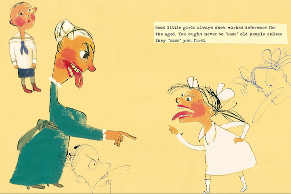 "An illustration from the re-issue of Mark Twain's ""Advice to Little Girls."""
