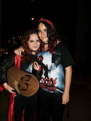 Poofy (left) and Anna at an Ozzy Osbourne concert last year.