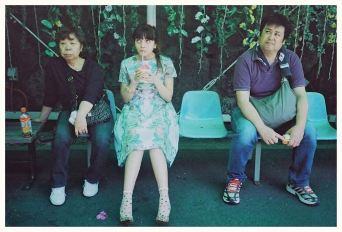 La Casita de Wendy dress and Kiwanda socks from Lamp Harajuku. Vintage floral-print shoes from Haight & Ashbury.