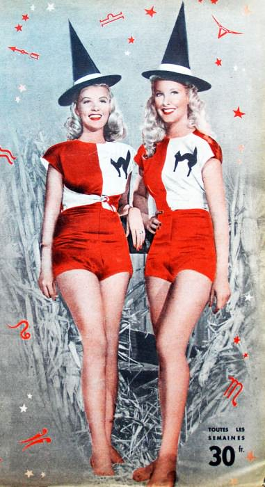 Penny Edward and Barbara Bates on the cover of the June 4, 1950 issue of the French pulp magazine V.