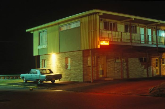 Motel and Car, Seaside, Oregon, 1981 by Greg Girard.