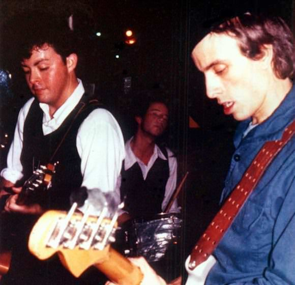 "Richard Barone and ""a"" in 1978, playing the first show at Maxwell's in Hoboken, New Jersey."