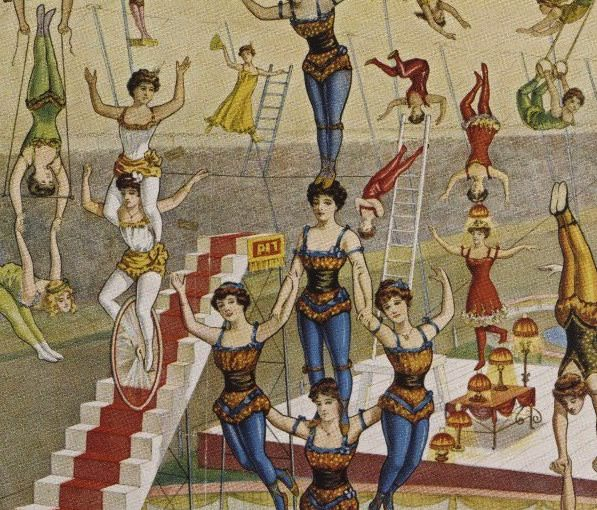 Detail from an old Barnum & Bailey Circus ad.