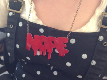 DIY Shrinky-Dinks Nameplate Necklace