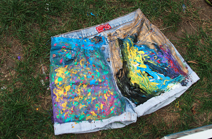 Rookie » DIY Painted Denim Shorts