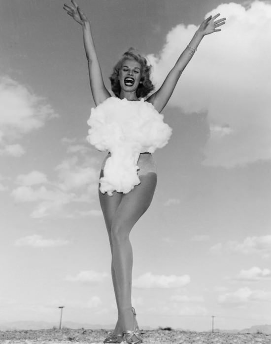Lee Merlin, Miss Atomic Bomb 1957, via Retronaut.