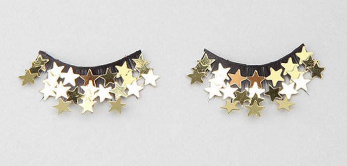 Shimmer Twins Gold Stars lashes from ASOS. (Hat tip to reader Jaime!)