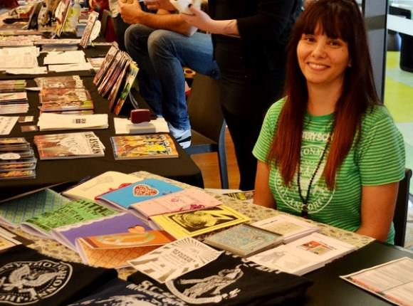 I still make zines—here I am at the Zine and Independent Comic Symposium in Brisbane, Australia, earlier this month.