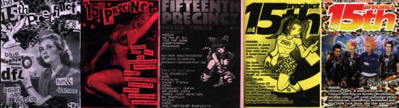 "The first five issues of ""15th Precinct."""