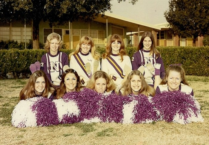 Norwalk High School pep squad, 1972, via  ozfan22's Flickr.